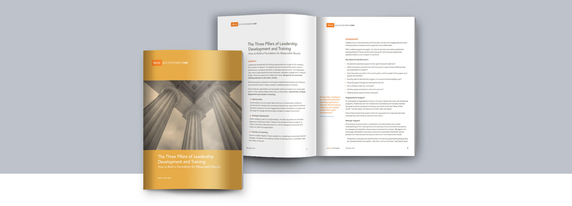 Fierce Conversations Whitepaper 3 Pillars of Leadership Development and Training