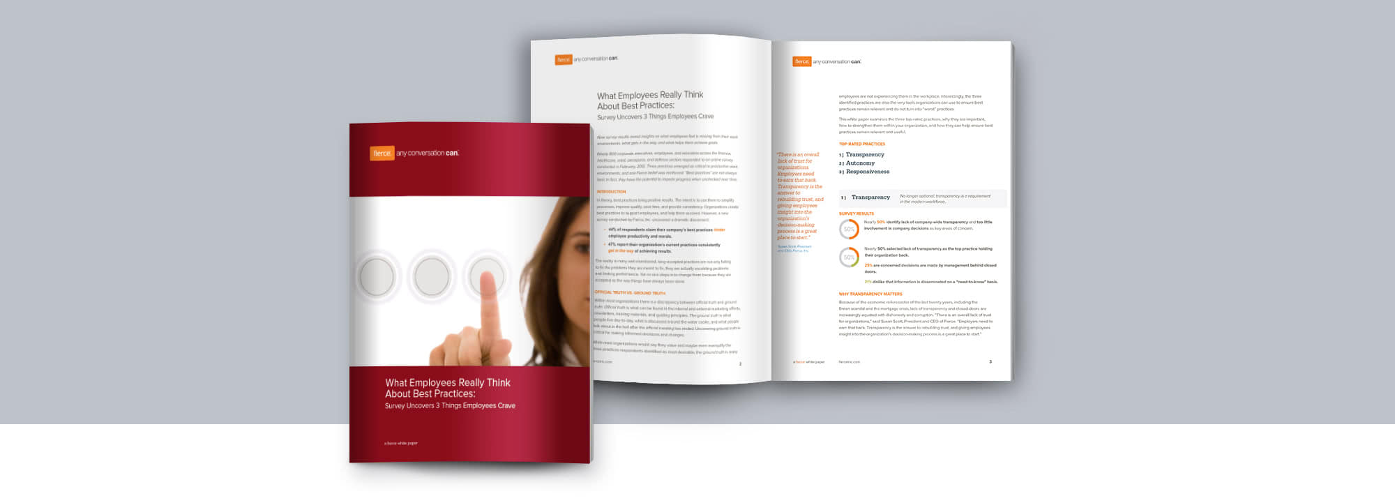 Fierce Conversations Whitepaper What Employees Really Think about Best Practices