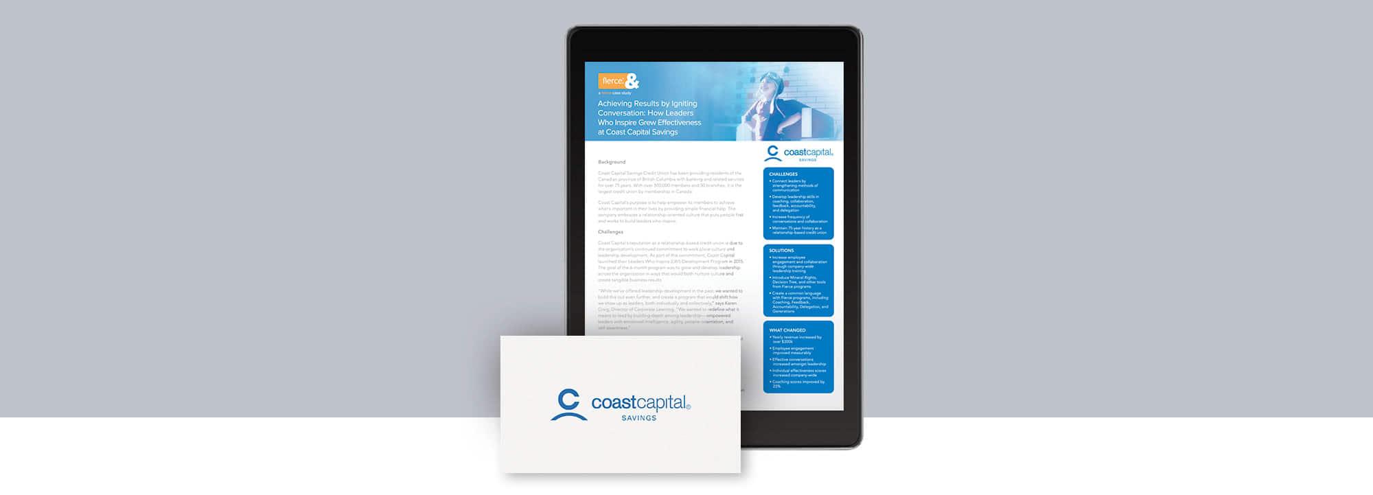 Fierce Conversations Coast Capital Savings Case Study