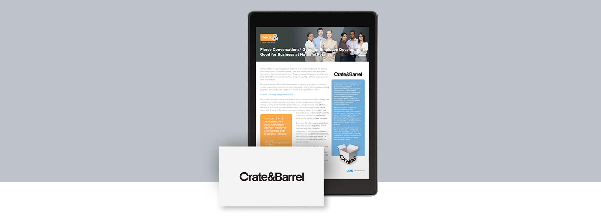 Fierce Conversations Crate & Barrel Case Study
