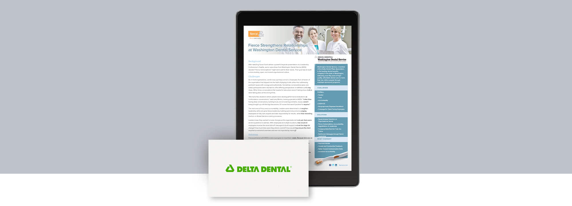 Fierce Conversations Washington Delta Dental Case Study