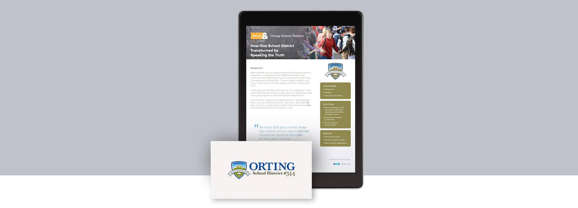 Fierce Conversations Orting School District Case Study
