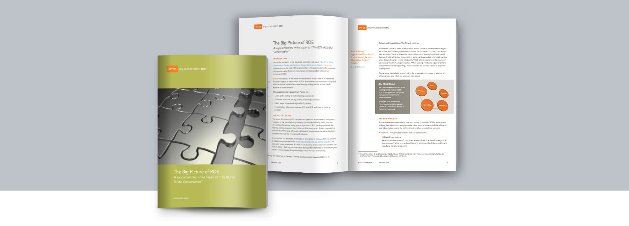 Fierce Conversations Whitepaper Big Picture of ROE ROI of Skillful Conversation