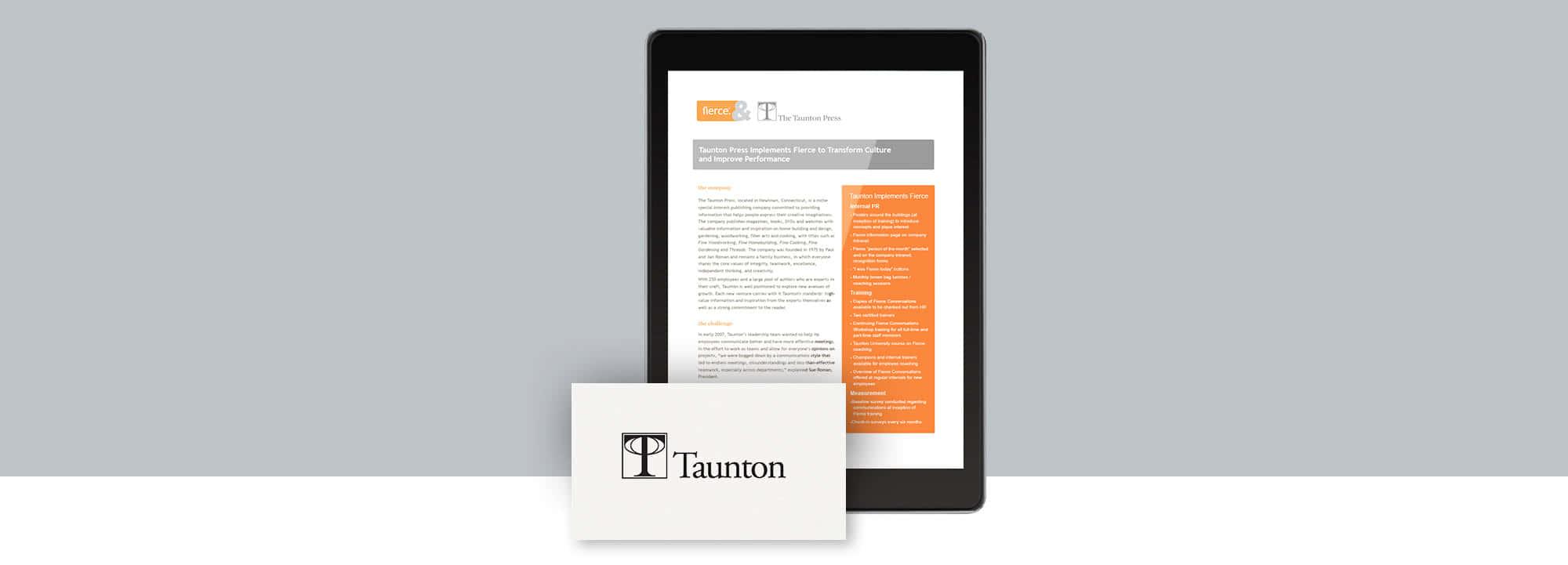 Fierce Conversations Taunton Press Case Study
