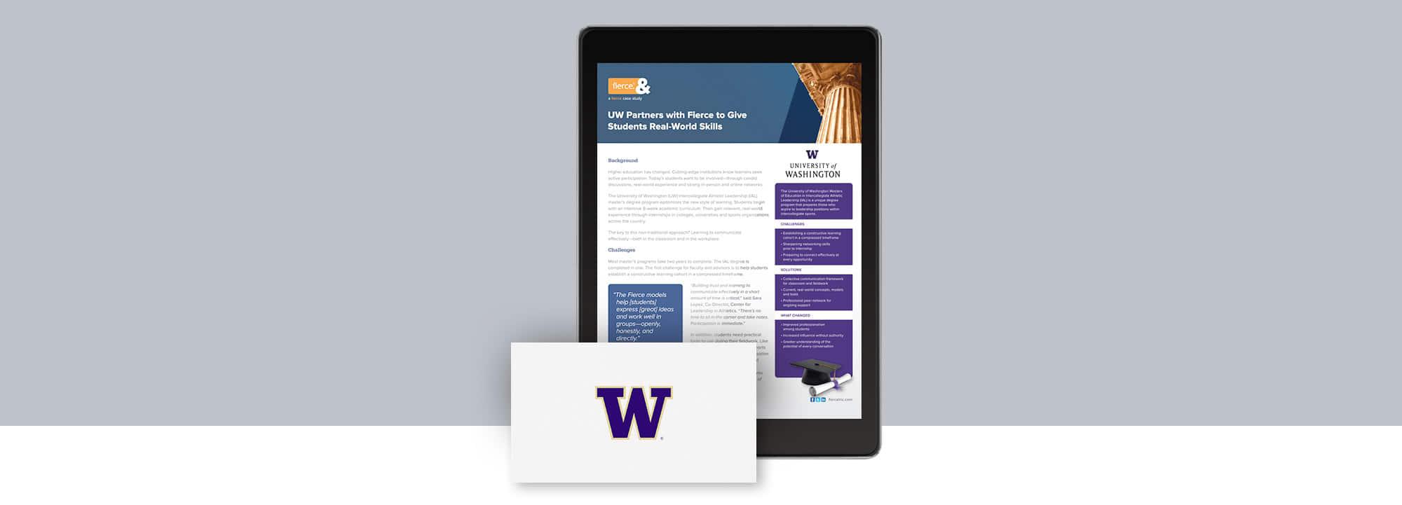 Fierce Conversations University of Washington Case Study